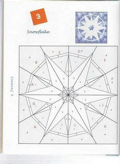 Snowflake Foundation Paper Pieced Quilt Block   Paper