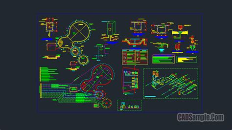 Swimming Pool Full Detail Autocad Project » CADSample