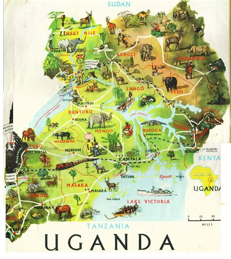 Map of Uganda; and YES there is civilisation, its not all