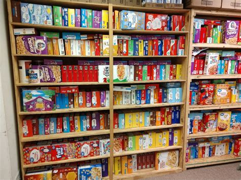 Cullman Caring for Kids food pantry cereal shelves full