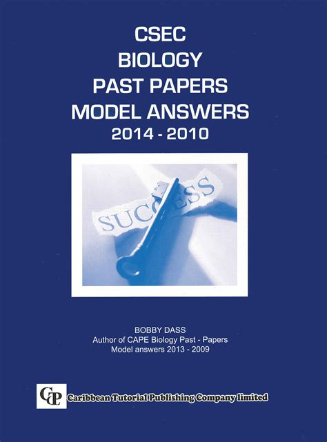 CSEC Biology Past Papers Model Answers 2014-2010