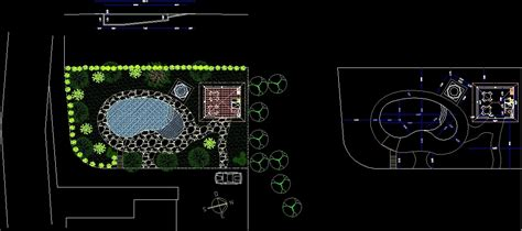 Kidney Swimming Pool DWG Section for AutoCAD • Designs CAD