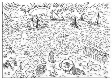 9+ Sea Coloring Pages - JPG, AI Illustrator Download