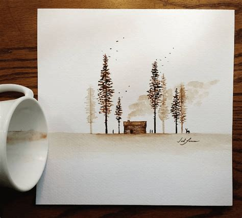 Learn The Basic Coffee Painting Techniques For Beginners