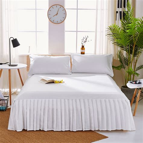 Solid Color Bed Sheets with Beyond Wrap Skirt, Luxury
