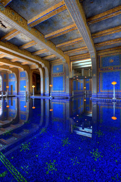 Roman Pool | The Roman Pool at Hearst castle is a tiled