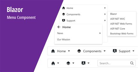 Blazor UI Components - New Menu (Available now in v20