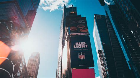 New York City, Times Square, Commercial, Building, Sun
