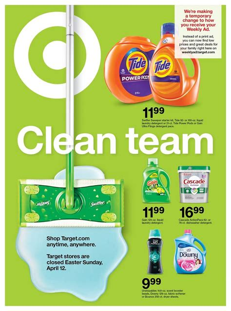 Target Cleaning Products Sale Weekly Ad valid from Apr 12