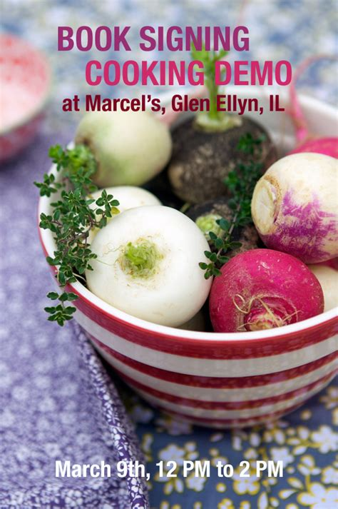Book Signing and Cooking Demo, Marcel's in Glen Ellyn IL