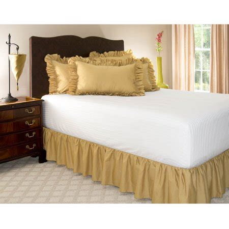 Harmony Lane Olympic Queen Size Ruffled Bed Skirt, 21 Inch