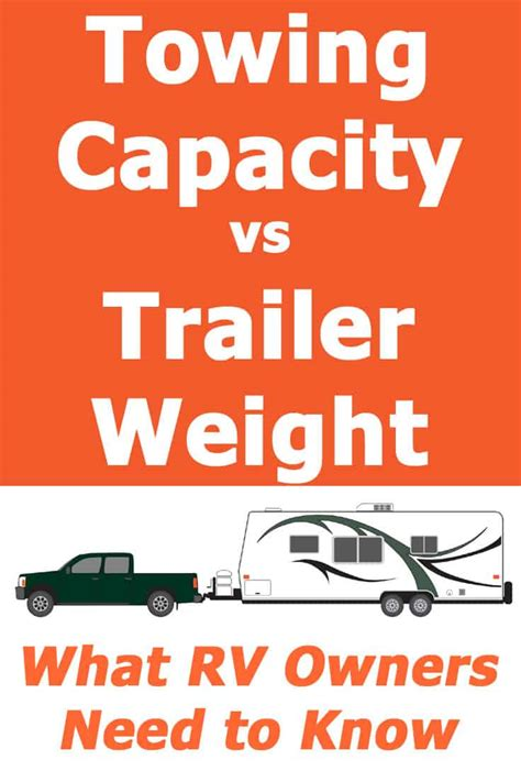 Towing Capacity and Trailer Weight – What RV Owners Need
