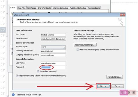 How to Change your Password in Outlook 2010: 6 Steps (with
