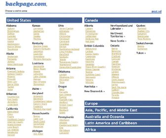 United States – Backpage Personals Classifieds